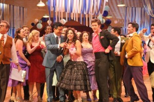"The cast during ""Born to Hand Jive."""