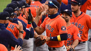 Astros pound A's en route to a 10-5 win in game 1