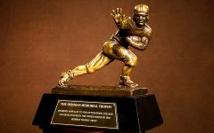 NEW YORK, NY - DECEMBER 11: The Heisman Trophy,  on December 11, 2011 in New York City. NOTE TO USER: Photographer approval needed for all Commercial License requests. (Photo by Kelly Kline/Heisman Trophy Trust via Getty Images)