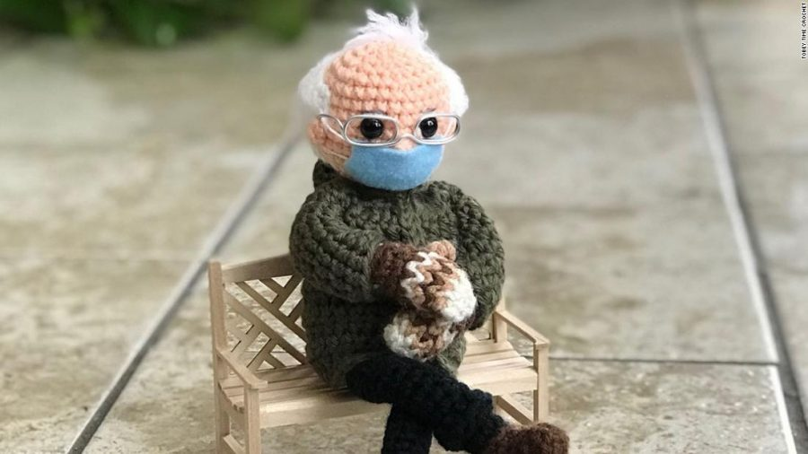 Lady who sold 20k Bernie doll, donates to charity