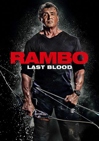 This is Rambo the star of the movies holding a bow and arrow, since he is really good at using them.