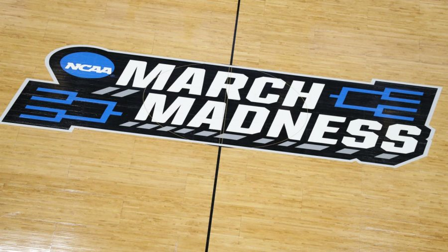 This is the logo for march madness and you will see it everywhere while watching March madness.